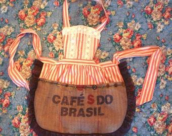 Handmade Coffee Sack Barista Apron