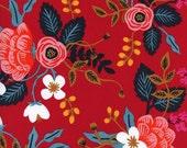 Cotton + Steel Les Fleurs rayon - birch floral - enamel - 50cm - PRESALE