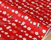 Japanese Fabric Maneki Cat - red - 50cm