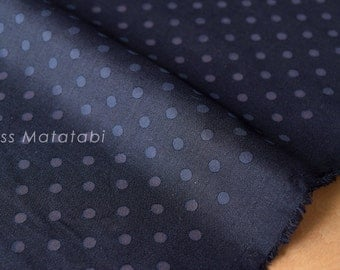 Japanese Fabric polka dot windows - navy blue - 50cm