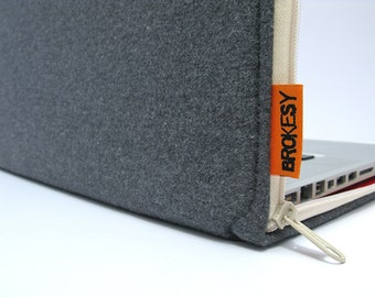 "Laptop Case - 11"" MacBook Air or 12"" MacBook - Grey Flannel"