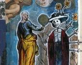 Original Apophenia Tarot Card The Four of Swords