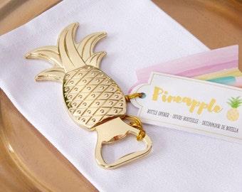 Gold Pineapple Bottle Opener Favors-Set of 6