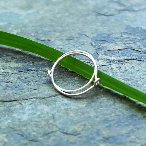 26g hoops-- sterling silver or 14k hoops-- primitive series-- handmade by thebeadedlily