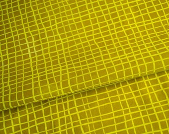 Skinny Stripe Grids hand Dyed and Patterned Fabric