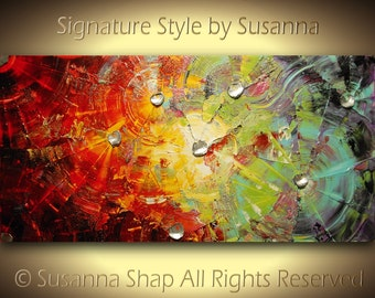 Original Oil Painting Abstract Modern Thick Texture Palette Knife Painting Large Canvas Wall Art Multicolored-Susanna