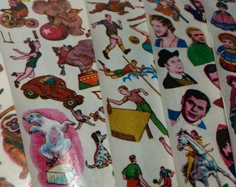 Vintage Temporary Tattoo Transfer Pictures - 5 DIFFERENT SHEETS