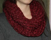 Knitted Dark Red Scarf