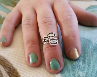 Stackable Stamped Sterling Silver Ring
