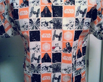 Star Wars Scrub Shirt Orange Any Size