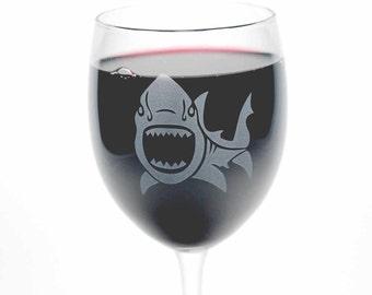 Shark Wine Glass - nautical beach wedding