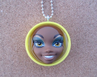 Clawdeen - upcycled Monster High pendant