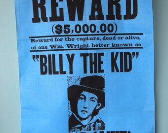 vintage Billy the Kid towel