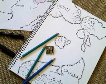 Custom Hand Drawn Map