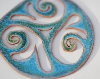 Swirl Enamel Necklace
