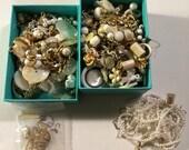 Tiny junk destash vintage white