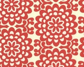 CLEARANCE 3.75 Yards Amy Butler Lotus Wallflower in Cherry Red Fabric