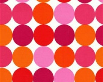 CLEARANCE .75 Yards Michael Miller Disco Dots in Flamingo