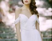 Silk chiffon gown with straps: Ellis