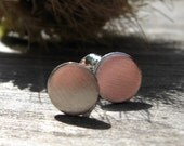 20% OFF TODAY - Brushed Sterling Disc Post Earrings 6mm