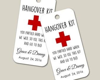 Hang Over Gift Tags, Custom Tag, Wedding Favor, Gift Tags, Hang Tags, Bridal Favor, Party Favor, Personalized - Set of 20