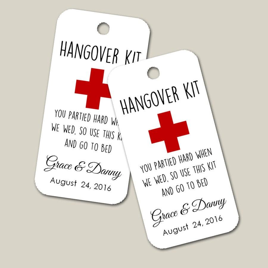 Hang Over Gift Tags Custom Tag Wedding Favor Gift by MaxandBella