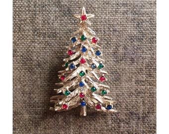 Vintage Christmas Tree Pin -