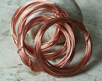 Solid copper wire 18g thick, 10 ft (item ID SCW18gN)