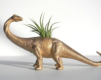 NEW! Air Plant Dinosaur Planters with Air Plants! Great for Work Desk Decor or Gifts!