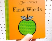 New Jane Foster's First Words baby board book  - Scandi retro illustrations Jane Foster  - can sign on request!