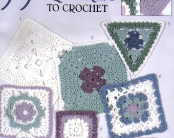 99 Granny Squares to Crochet  ~  Crochet Book  ~  58 pages long