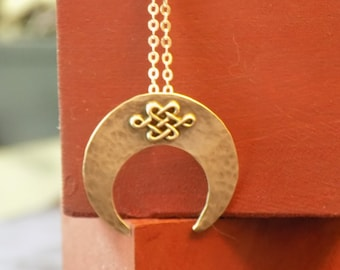 Sterling Silver Celtic Moon Necklace
