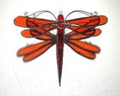 You Pick Any Color and Size - 3D Stained Glass Dragonfly Twirl - Suncatcher Home Garden Hanging Ornament Home Decor (MADE TO ORDER)