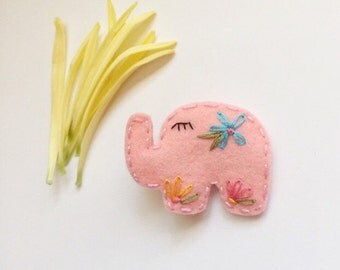 Elephant Wool Felt Hair Clip / Headband