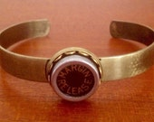 CLEARANCE! Typewriter key cuff bangle / vintage margin release key / bronze tone metal