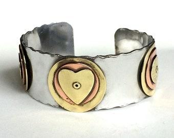 Handmade Adjustable Industrial Sweetheart Cuff