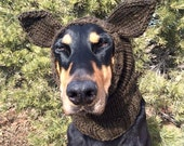 Hand Knitted Dog Snood with ears - warm and cute - Doberman size - Dog Snood