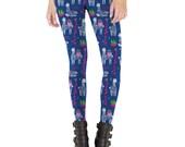 Happy Alpaca Leggings, Illustration, Yoga Pants, Made in USA