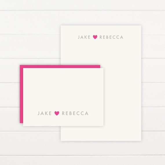 ADORE Personalized Stationery + Notepad Set - Personalized Notepad and Personalized Stationary