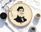A Gentelman's cross stitch portrait