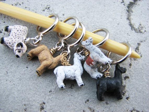 Tiny Alpaca - Llama Non-Snag Stitch Markers