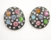 Vintage rhinestone Clip Earrings