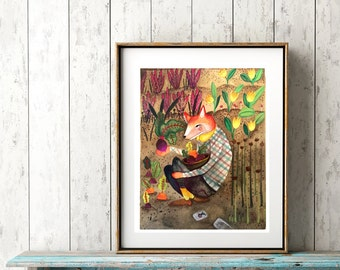 Garden of Beets ~ PRINT