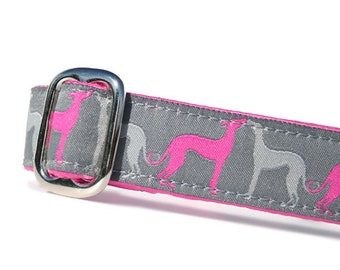 "1"" Dog Collar Hound Amore Fuchsia - Choose Your Collar Style!"