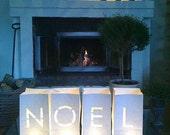 Christmas lights, Luminary bags, Christmas luminaries, NOEL, Christmas mantle, Christmas candles, XMAS, Christmas decorations