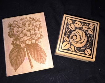Ann Griffin and More Floral Rubber Stamps
