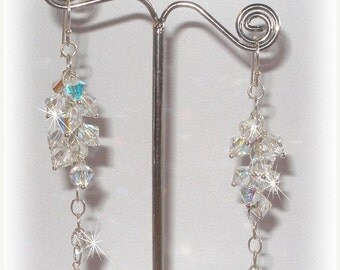 ON SALE 15% OFF Crystal Bridal Grapevine Earrings