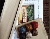Oh Christmas Tree Punch Needle Kit Valdani Threads Wood Box Weavers Cloth Pattern