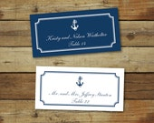 Printable wedding place cards, nautical wedding place cards, anchor, editable pdf, instant download