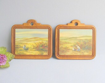 Vintage Wood Pictures, Wall Plaques, Wood Wall Plaques, Rustic Wall Pictures, Farmhouse Wall Pictures, Wood Plaques